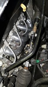 American Racing long tube header system in Truck